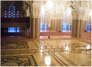 Alone in mosque