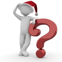 Christmas Question Mark Icon