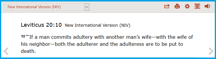 Leviticus 20.10 adulterers to be killed
