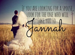 Spouse to take you to Jannah